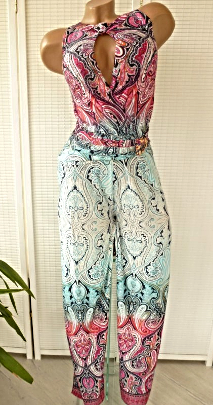 Hammer Overall Jumpsuit Hippie Paisley Muster 3 Farben 36/38 und 38/40
