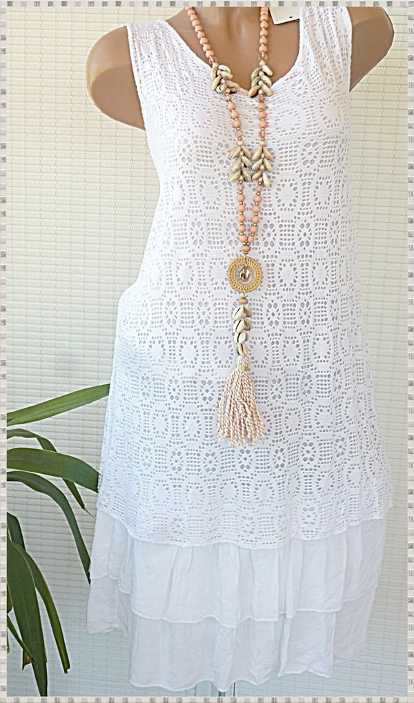 40/ 42 42 44 long Tunika Kleid Strandkleid Hängerchen ...